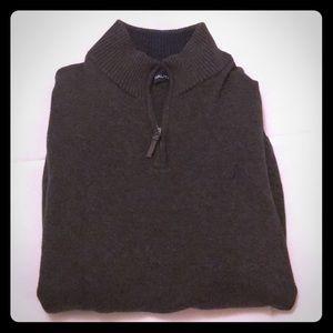 Large Nautical Charcoal grey 3/4 zip sweater